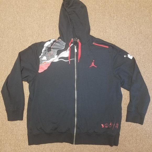12494a96dfbb24 Nike Air Jordan Jumpman Black Zip Up Hoodie Jacket.  M 5b76dd5e035cf130d8508a40